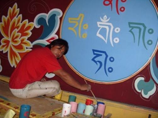 paint decoration gönpa