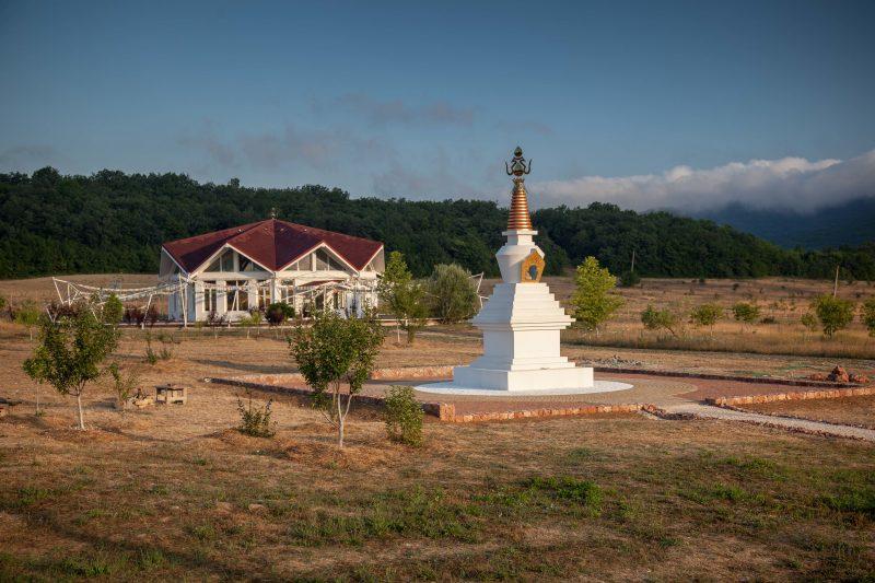 completion stupa kunsangar south