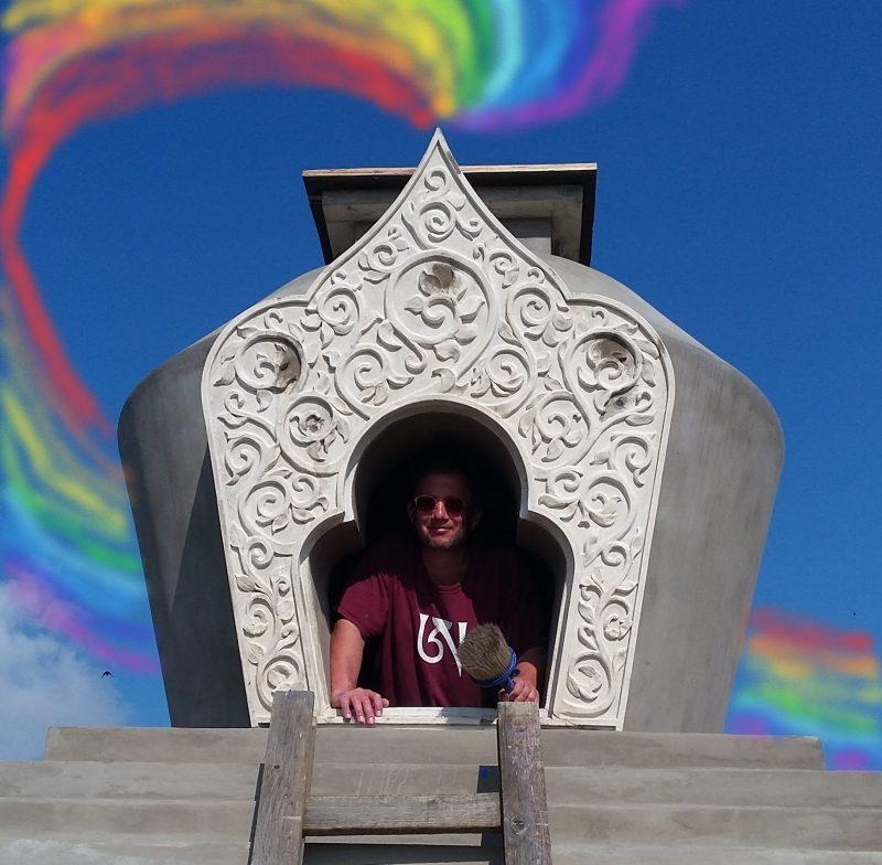 finishing second stupa