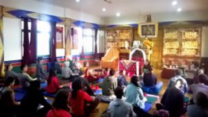 Corso aperto di Yantra Yoga<br> alla Library of Tibetan Works and Archives, Dharamsala, India