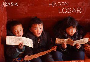 Benvenuto 2144! Augura HAPPY LOSAR ad un bambino tibetano