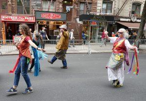 Khaita alla parata della danza<br> a New York