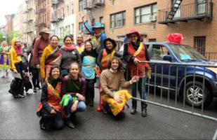 Esibizione di Khaita alla New York City Dance Parade di New York