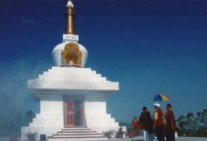 La costruzione del Grande Stupa a Merigar West