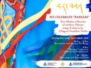 "Celebriamo ""Barsam"" a <br>Dzamling Gar – La nuova collezione Khaita di Chögyal Namkhai Norbu"