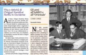 Stampa del numero speciale della rivista The Mirror in italiano