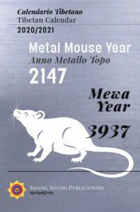 Il calendario tibetano dell'anno topo di mentallo (2020 2021