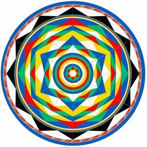 Mandala della Danza del Vajra da colorare