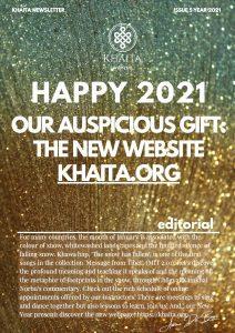 Khaita Newsletter: felice 2021 e vi presentiamo il nuovo sito!